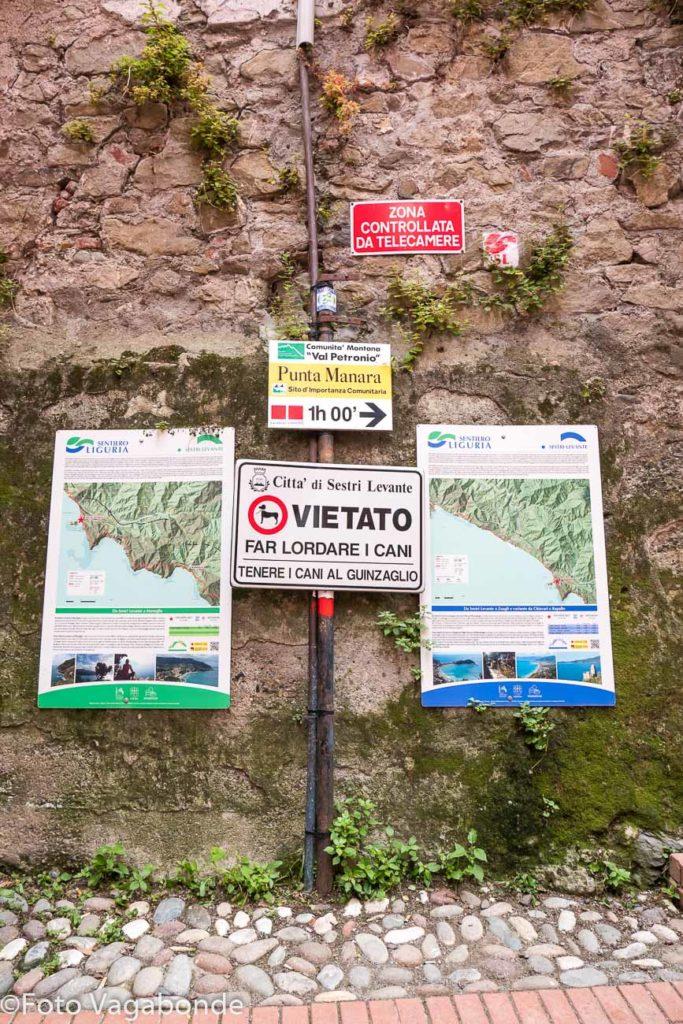 Indicazioni per Punta Manara